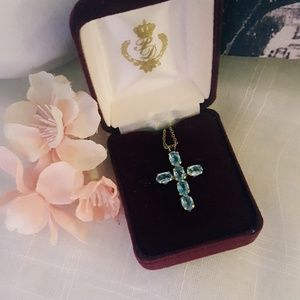 Jewelry - Blue Cross Necklace